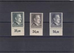 GG Generalgouvernement MiNr. 86-88B, Postfrisch, **, Unterrand - Occupation 1938-45