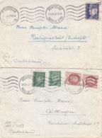 2 Zensurbriefe Aus PONTOISE 1942 Nach Göttingen - Francia