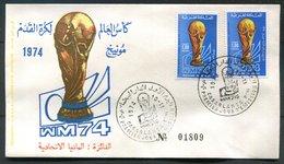 Maroc  N° 710 /711 - 1er Jour - Coupe Du Monde De Football - 1974-  - Avec Surcharge - Morocco (1956-...)
