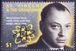 St. Vincent & Gr. 1995 MNH, Wolfgang Pauli, Nobel Physics Winner     ( - Nobelprijs