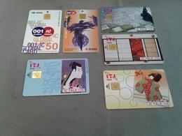 Japan - 6 Chipcards - Japan