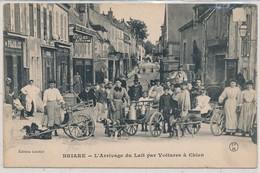 Cpa Dép-45 Loiret Briare L'Arrivage Du Lait Par Voiture A Chien - Briare