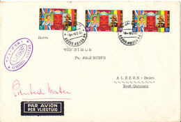 Ethiopia Cover Sent Air Mail To Germany Addis Ababa 3-2-1965 With Complete Set Of 3  ROYAL VISIT - Ethiopia