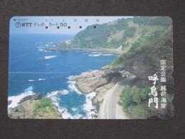 JAPAN PHONECARD NTT 370-097 CLIFF BEACH - Japan