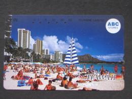 JAPAN PHONECARD NTT 110-011 ABC STORES HAWAII BEACH - Japan