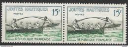 France-N°1162a-Variété FFRANCAISE Tenant à Normal-Neuf**-Signé Calves - France