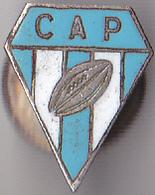 PIN'S AVEC VIS  RUGBY  FANION  CLUB DU C A P  PERIGUEUX  EN DORDOGNE  AVEC VIS TRES RARE - Rugby
