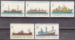 CUBA     SCOTT NO. 841-45      MNH        YEAR  1964 - Unused Stamps
