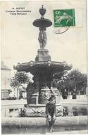 GUERET: FONTAINE MONUMENTALE PLACE BONYAUD - Guéret