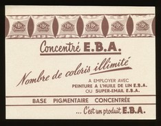 Buvard -  Concentre E.B.A. - Verf & Lak