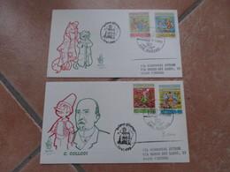 1990 Serie COLLODI Pinocchio Illustratore N.2 Busteed. Venetia Annullo Speciale - San Marino