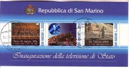 SAN MARINO BLOCK 16 O NATIONALES FERNSEHPROGRAMM - HOLOGRAMM - Blocks & Sheetlets