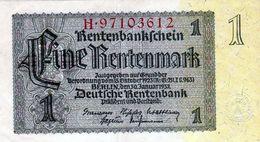 Billet Allemand 1 Rentenmark Le 30-1-1937- 8 Chiffres En T T B - - [ 3] 1918-1933 : República De Weimar