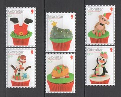WW697 2017 GIBRALTAR CHRISTMAS CUPCAKES #1826-31 !!! MICHEL 12.5 EURO !!! 1SET MNH - Christmas