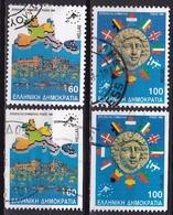GREECE 1988 European Councel / Rhodos Meeting Both Sets Used Vl. 1772/1773 + 1772/1773 A - Gebruikt