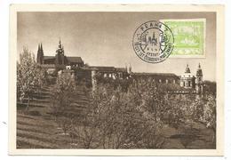 CESKOLOVENSKO 5C HRADCANY CARTE MAXIMUM CARD MAX PRAHA 24.1952 - Czechoslovakia
