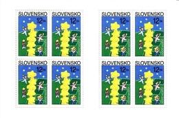 SLOWAKEI MI-NR. 368 X + Y ** KLEINBOGEN EUROPA 2000 - STERNE - Blocks & Kleinbögen