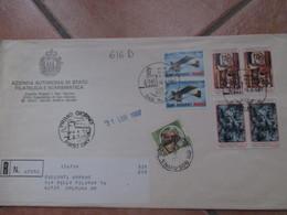 1987 Raccomandata Primo Giorno 6 Pezzi Commemorativi + Castelli Italia L.250 Diritto Custodia - San Marino