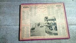 Calendrier 1905  Almanach Des Postes Régates De Saint Malo Marine Voilier - Grand Format : 1901-20