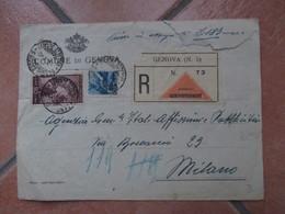 Raccomandata CONTRASSEGNO Per 183 Lire Affrancatura 65 Lire 1950 Ambulante Verso Genova Milano - 1946-60: Marcofilie