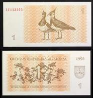 LITHUANIA  1  1992  UNC - Lituania
