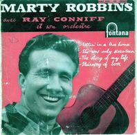 Disque Marty Robbins Avec Ray Conniff-sittin' In A Tree Hause-fontana 467.001 ME - 1958 - - Country & Folk