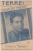 (TRE) CHARLES TRENET , Terre ! - Partitions Musicales Anciennes