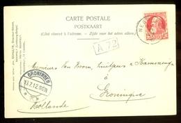 POSTKAART Uit 1912 * GELOPEN Van BELGIE NEERPELT Naar GRONINGEN  (11.558m) - 1912 Pellens