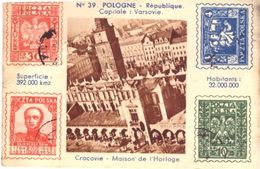 Image Pologne Capitale Varsovie Reprodution 4 Timbres - Autres Collections
