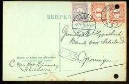 MENGFRANKERING * BRIEFKAART Uit 1916 * GELOPEN Van SCHIEDAM Naar GRONINGEN  (11.558q) - Periode 1891-1948 (Wilhelmina)