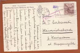 "Carte à Vue ""Locarno"" Obl. Locarno 04.06.1941 -> Camp Heinrichsbad - Zensur/Censored/censure Internement 323 + DCF - Suisse"