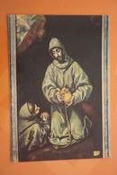 El Greco- Old  Postcard  - Skull  - Skeleton - Paintings