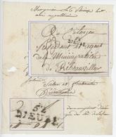 Cachet 52 DIEUZE Pour Ribeauvillé Lettre De Moyenvic An 4 – 26.1.1796 Moyen-Vic - Marcophilie (Lettres)