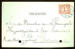 BRIEFKAART Uit 1914 * GELOPEN Van SCHIEDAM Naar GRONINGEN  (11.559) - Periode 1891-1948 (Wilhelmina)