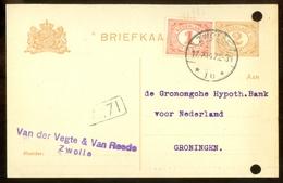 MENGFRANKERING * BRIEFKAART Uit 1917 * GELOPEN Van ZWOLLE Naar GRONINGEN  (11.559a) - Periode 1891-1948 (Wilhelmina)