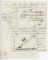 Lettre De Salins Libre An 3 – 16.4.1795 Cachet 52 CHAT.SALINS (Château Salins) Inspecteur Des Salins - Marcophilie (Lettres)