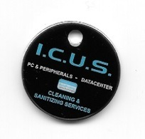 Jeton De Caddie  I.C.U.S.  PC & PERIPHERALS - DATACENTER, CLEANING & SANITIZING  SERVICES  Voir - Einkaufswagen-Chips (EKW)