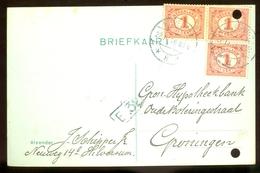 BRIEFKAART Uit 1916 * GELOPEN Van HILVERSUM Naar GRONINGEN  (11.559d) - Periode 1891-1948 (Wilhelmina)