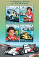 Niger 2014 Formula Ayrton Senna , Racing Car - Niger (1960-...)