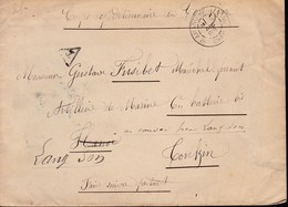 CHINA  CHINE CINA 1903 CORPS EXPEDITIONNAIRE DE  TONKIN TO FRANCE T POSTMARK RARE!! - Vietnam