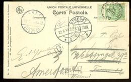 BELGIE POSTKAART Uit 1910 * GELOPEN Van NAMUR Naar UTRECHT Daarna AMERSFOORT  (11.559g) - 1910-1911 Caritas