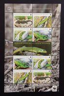Bosnia Croatia 2010; WWF Fauna Reptiles Lizards MNH** Sheet; High Value! - Bosnia And Herzegovina
