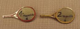 Broche Sport 001 2, Lot De 2 Broches FFT Fédération Française De Tennis, 1 Et 2 Raquette - Tennis
