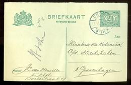 BRIEFKAART Uit 1916 * GELOPEN Van DELFT Naar 's-GRAVENHAGE  (11.559f) - Postal Stationery