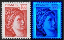 Sabine  N° 1972 - Beau Décalage Vertical De Bande Phospho - En TYPE I (sans Grain De Beauté)(v18) - Errors & Oddities