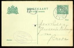 BRIEFKAART Uit 1915 * GELOPEN Van OUDENBOSCH Naar BREDA  (11.559k) - Postwaardestukken