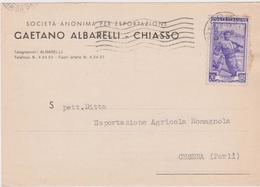 Cartolina Postale Intestata 1952 - 6. 1946-.. Repubblica