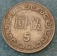 Taiwan 5 Dollars, 72 (1983) -2786 - Taiwán