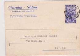 Cartolina Postale Intestata 1951 - 6. 1946-.. Repubblica
