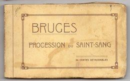 ALBUM CARNET      24 CARTES DETACHABLES      BRUGES   1924      PROCESSION DU SAINT SANG - Brugge